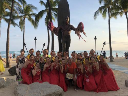 Hawaii パンパシフィック・フラフェスティバル クヒオビーチ・フラマウンド